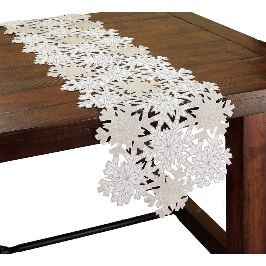 XIA Home Fashions Snowflake Table Runner