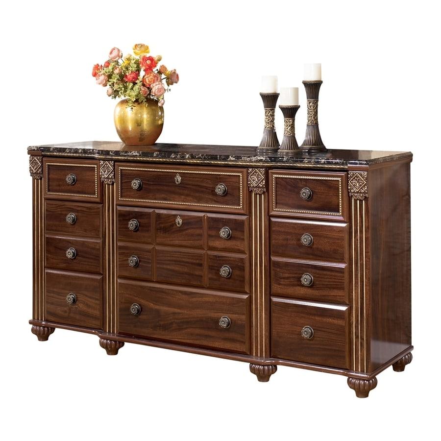Signature Design by Ashley Gabriela Dark Reddish Brown 9-Drawer  Dresser