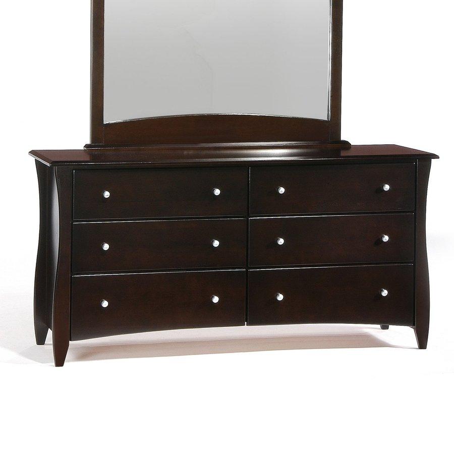 Night & Day Furniture Spices Dark Chocolate 6-Drawer Double Dresser