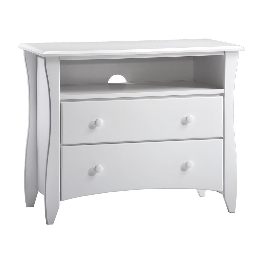 Night & Day Furniture Spices White Asian Hardwood 2-Drawer  Chest