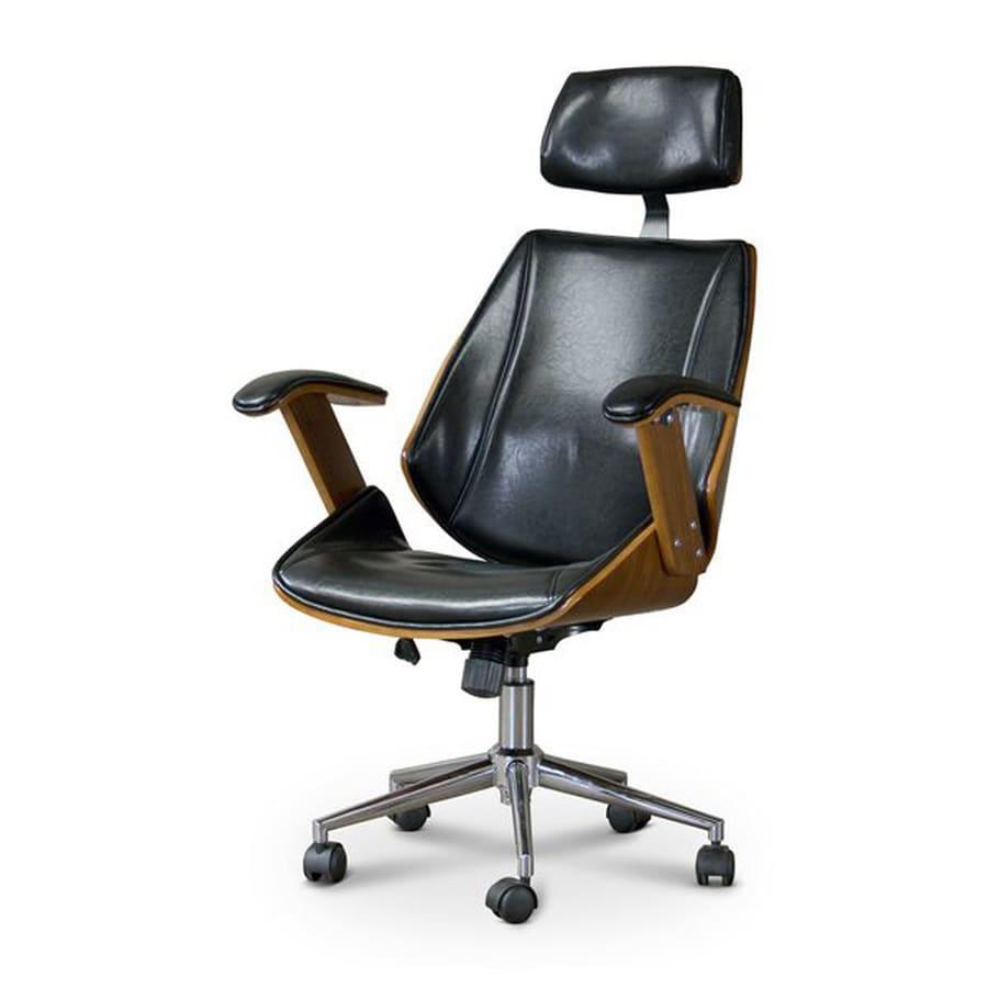 Baxton Studio Hamilton Black/Walnut Contemporary Manager Chair