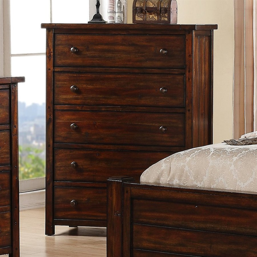 Picket House Furnishings Darien Deep Chestnut 5-Drawer  Chest