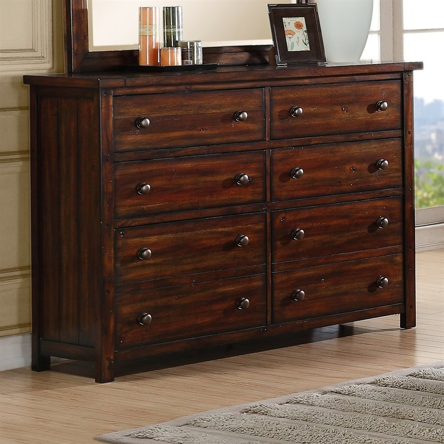 Picket House Furnishings Darien Deep Chestnut 8-Drawer Double Dresser