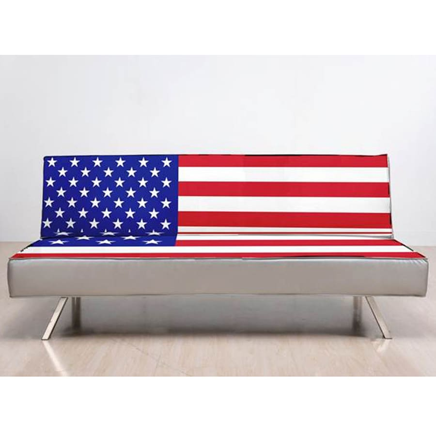 Gold Sparrow American Flag White Red Blue Sofa Bed