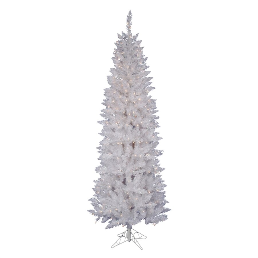 Vickerman 6-ft Pre-lit Slim Artificial Christmas Tree with 250 Clear White Incandescent Lights