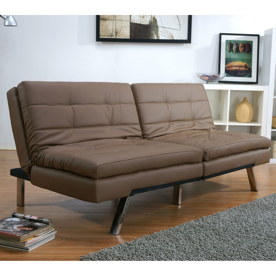Gold Sparrow Me-MPHis Taupe Faux Leather Sofa Bed