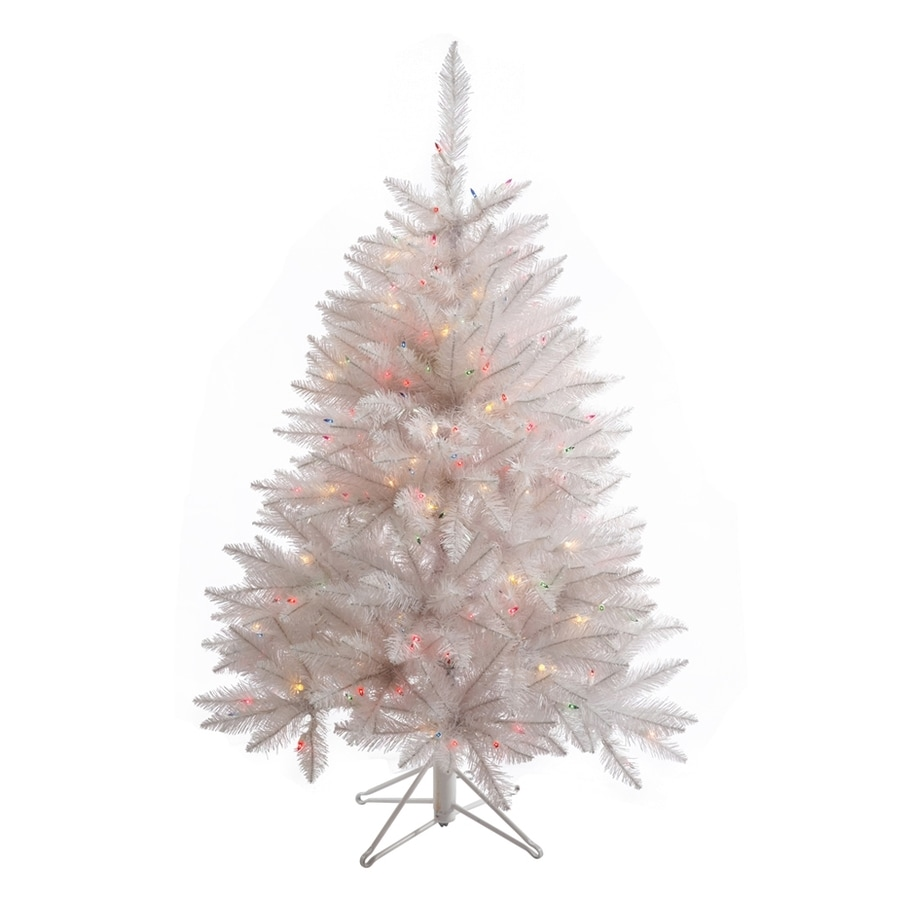 Vickerman 4.5-ft Pre-lit Crystal Artificial Christmas Tree ...