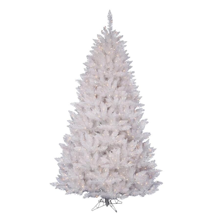 Vickerman 6.5-ft Pre-lit Crystal Artificial Christmas Tree with 600 Clear White Incandescent Lights
