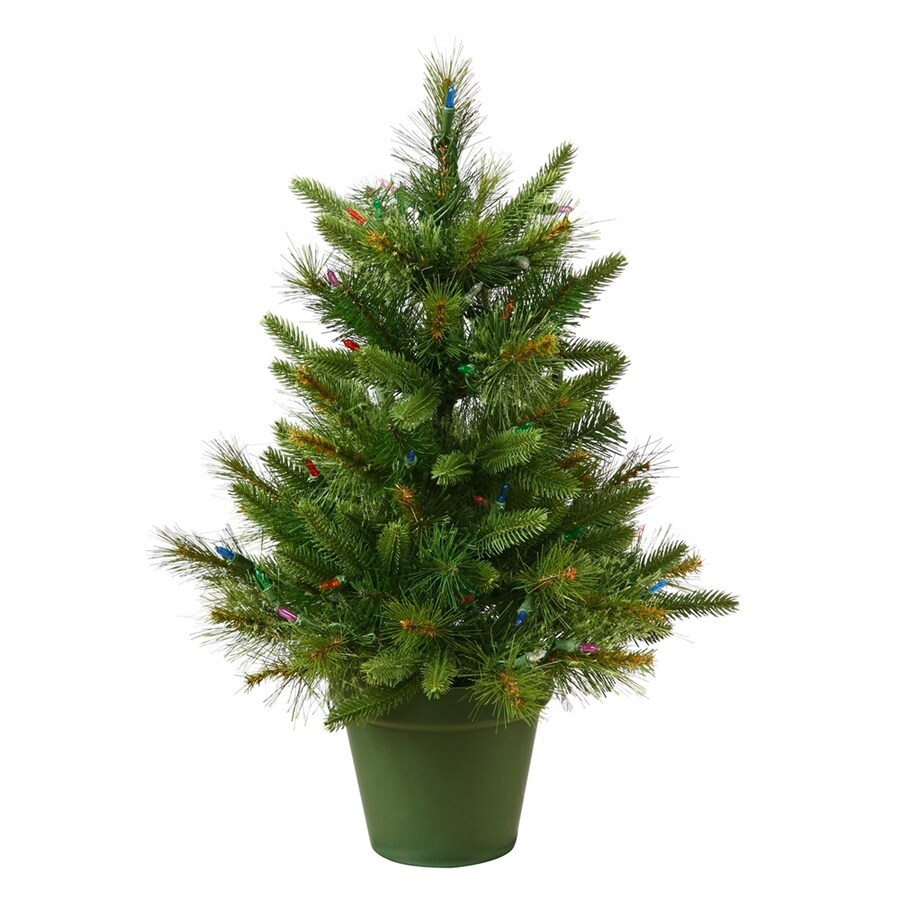 Shop Vickerman 2-ft Pre-lit Artificial Christmas Tree with 50 Warm ...