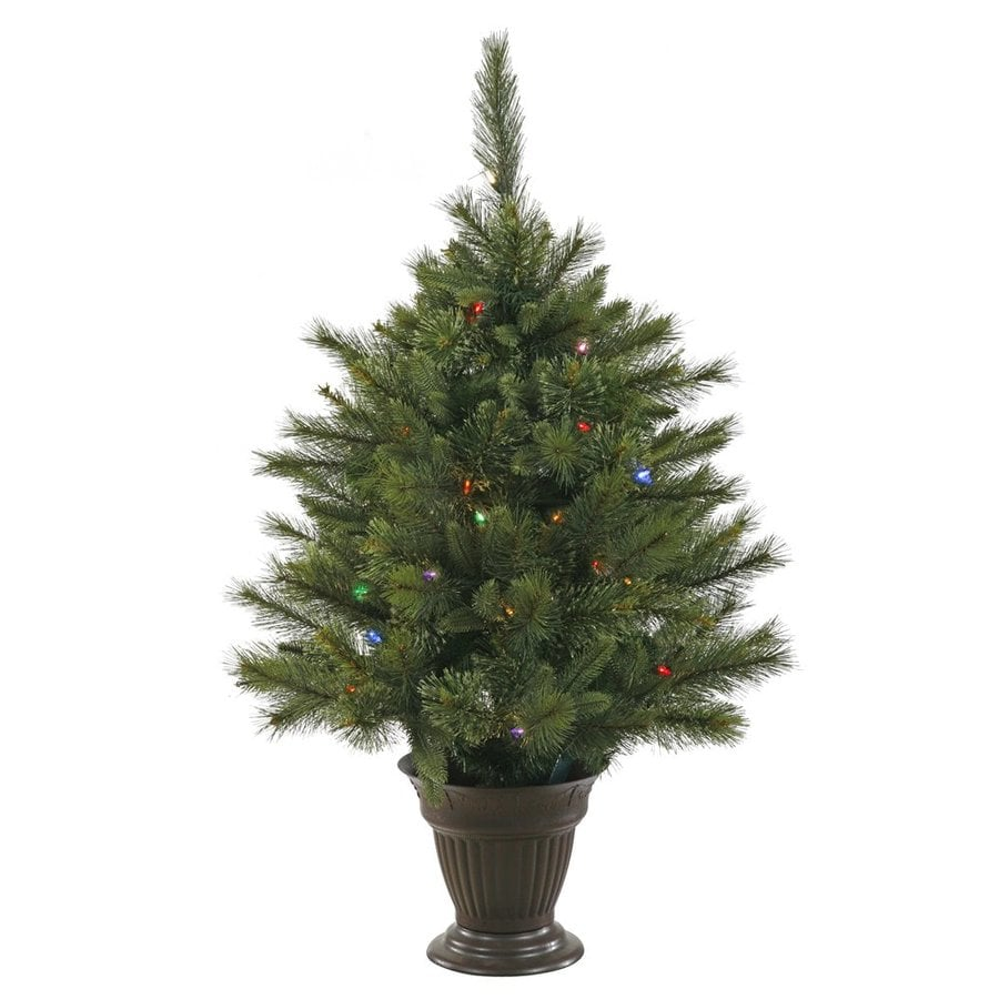 Vickerman 3.5-ft 218-Count Pre-lit  Artificial Christmas Tree 50 Multicolor LED Lights