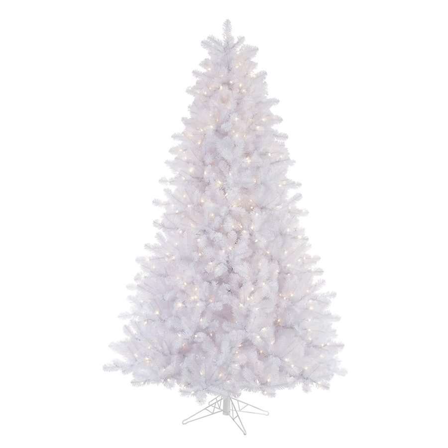 Vickerman 7.5-ft Pre-lit Crystal Artificial Christmas Tree with 650 Clear White Incandescent Lights