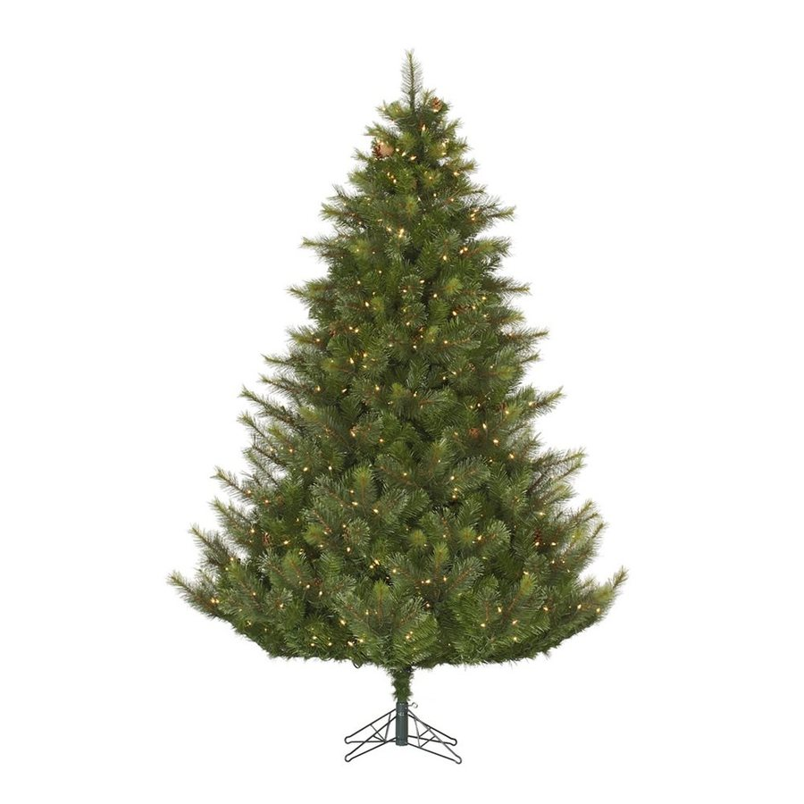Vickerman 7.5-ft Pre-lit Mixed Needle Artificial Christmas Tree with 750 Clear White Incandescent Lights