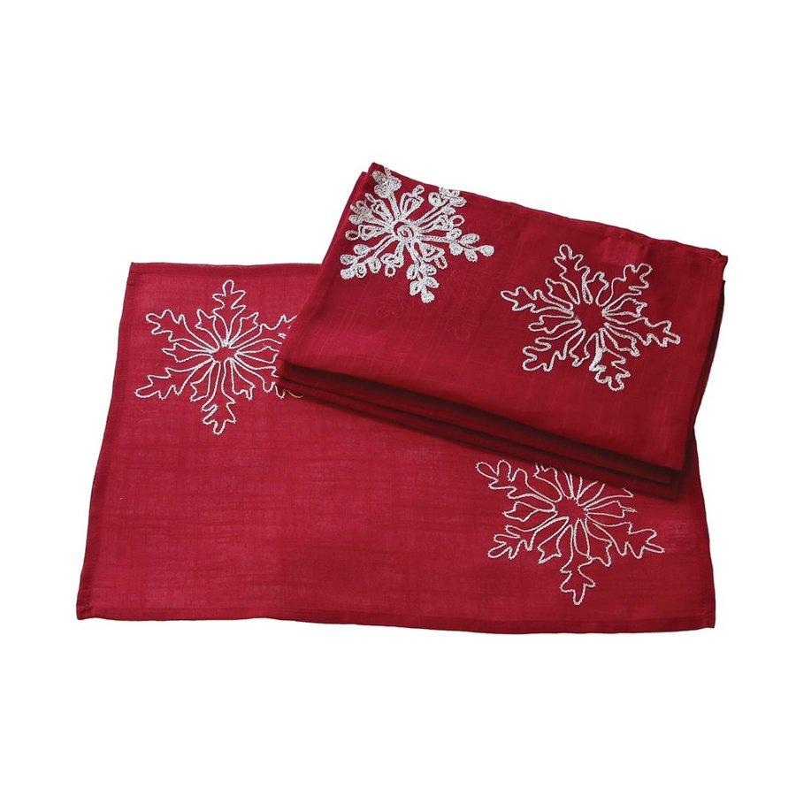 XIA Home Fashions Snowflake Placemat
