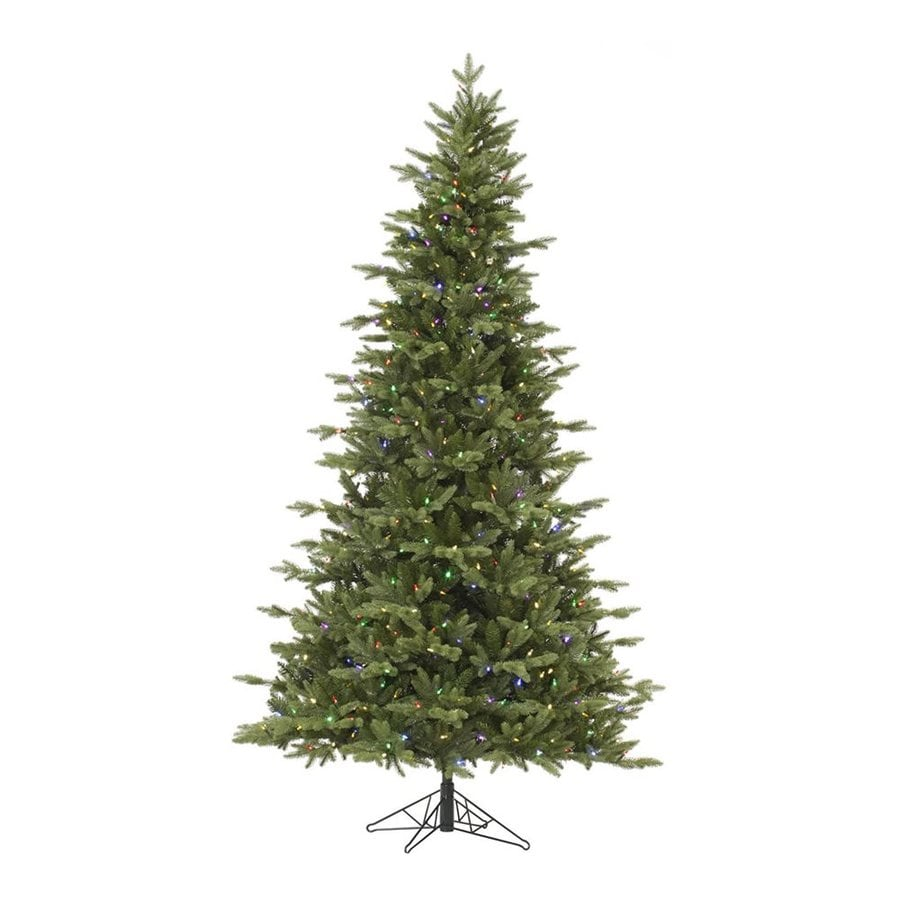 Vickerman 7.5-ft Pre-lit Balsam Fir Artificial Christmas Tree with 750 Multicolor LED Lights
