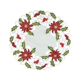 xia home fashions white poinsettia placemat set of 4