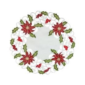 xia home fashions white poinsettia placemat set of 4