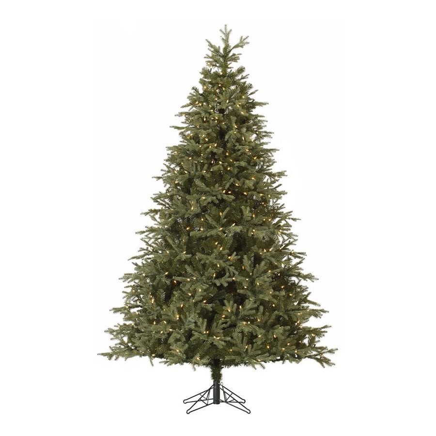 Vickerman 7.5-ft 1739-Count Pre-lit Frasier Fir  Artificial Christmas Tree 700 White Clear Incandescent Lights