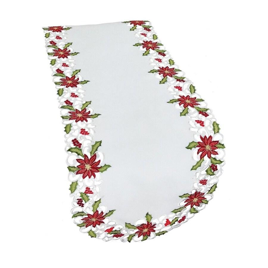 XIA Home Fashions Poinsettia Table Runner
