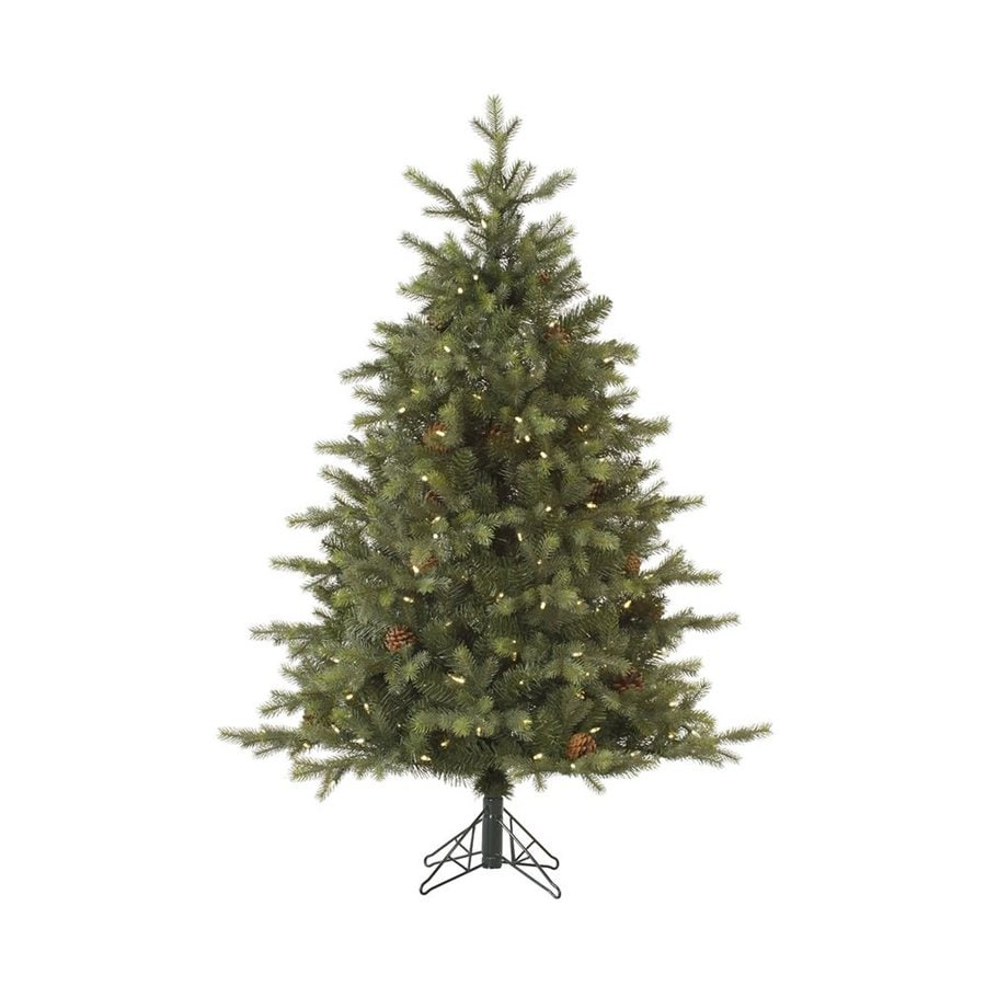 Shop Vickerman 4.5-ft Pre-lit Artificial Christmas Tree with 200 ...