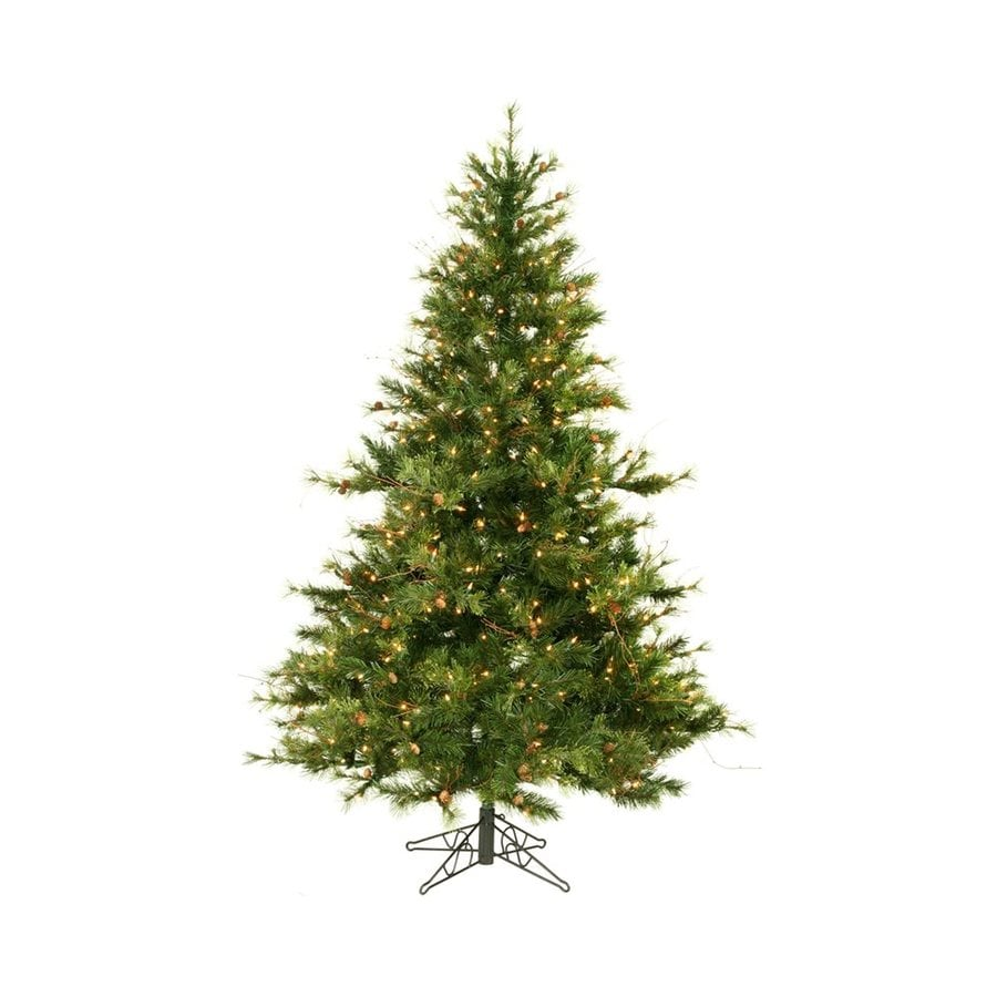 Shop vickerman 6 5 ft pre lit mixed needle artificial for Country living artificial christmas trees