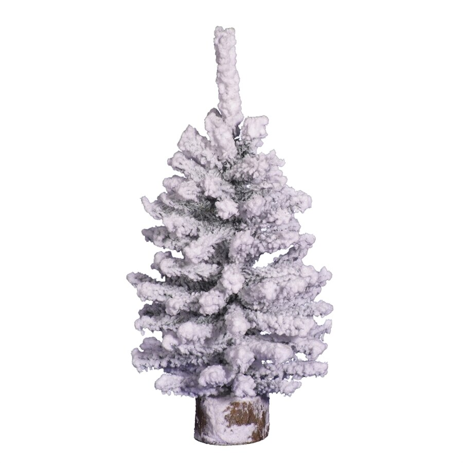 Vickerman 1-ft Flocked Artificial Christmas Tree