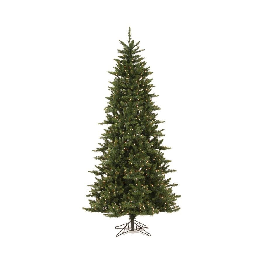 Vickerman 7.5-ft Pre-lit Camdon Fir Slim Artificial Christmas Tree with 700 Clear White Incandescent Lights