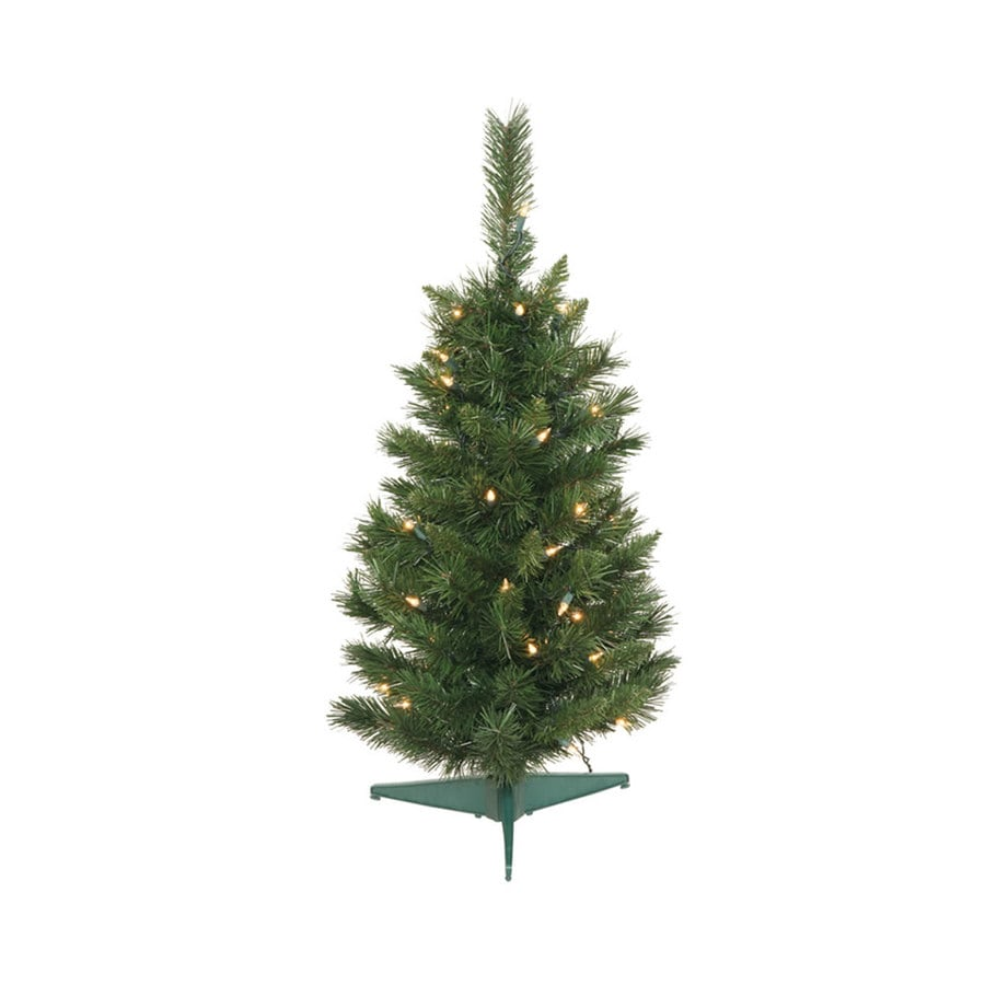 2 Ft White Christmas Tree: Vickerman 2.5-ft Pre-lit Imperial Pine Artificial