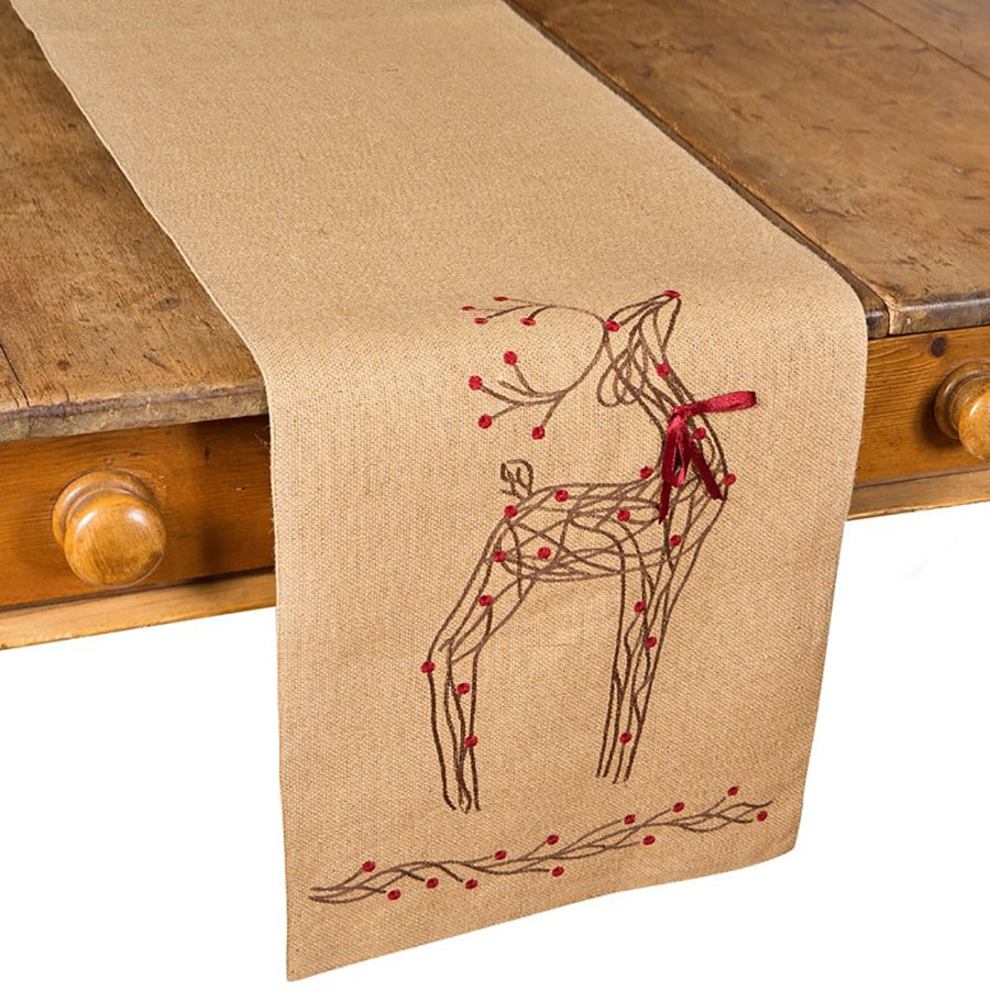XIA Home Fashions Reindeer Table Runner