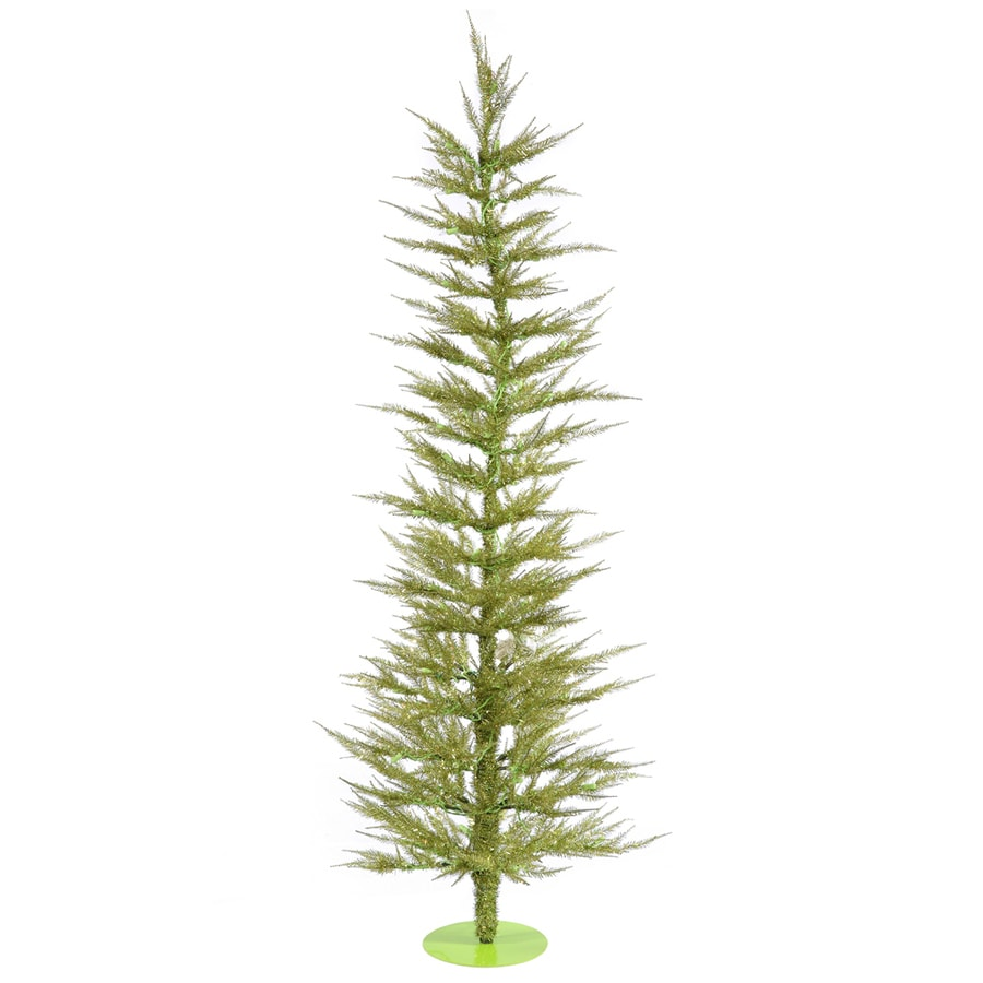 Vickerman 5-ft Pre-lit Whimsical Slim Artificial Christmas Tree with 100 Clear White Incandescent Lights