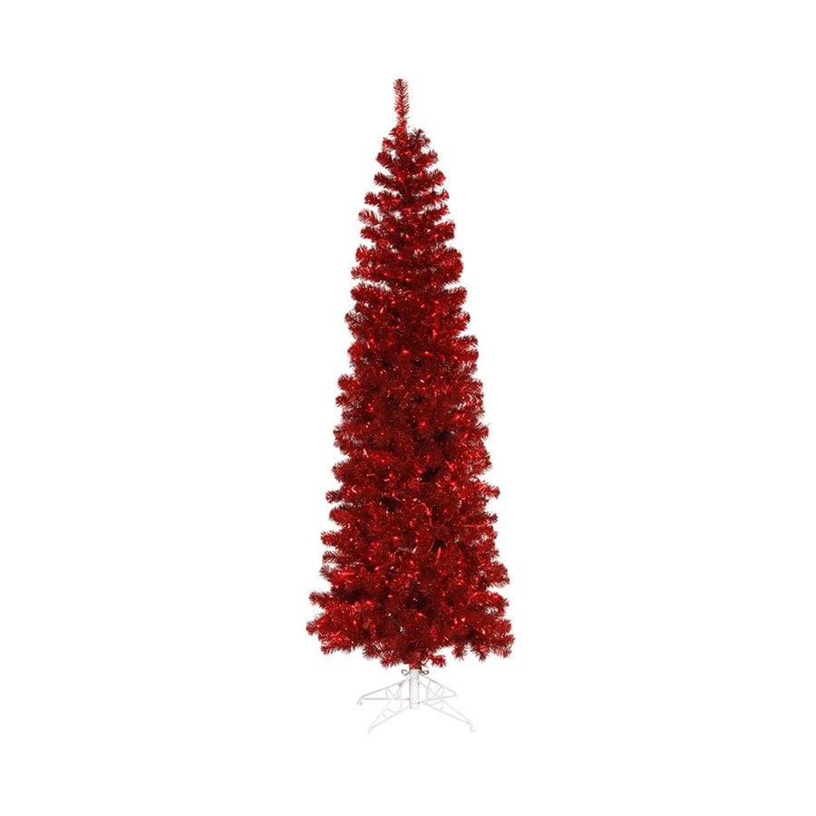 Vickerman 6 5 Ft Pre Lit Pencil Pine Slim Artificial Christmas Tree With 300 Constant