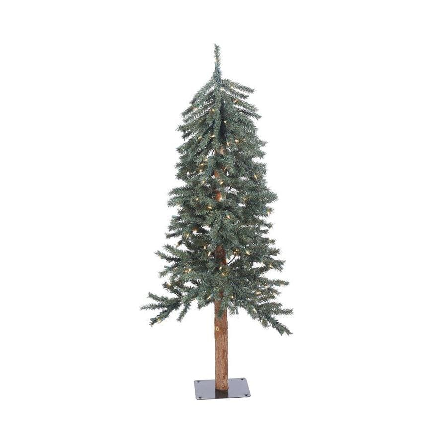 Vickerman 4-ft Pre-lit Alpine Slim Artificial Christmas Tree with 100 Clear White Incandescent Lights
