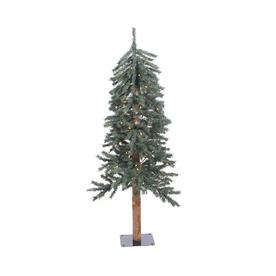 4cd8a68e542 Vickerman 4-ft Pre-lit Alpine Slim Artificial Christmas Tree with 100  Constant White