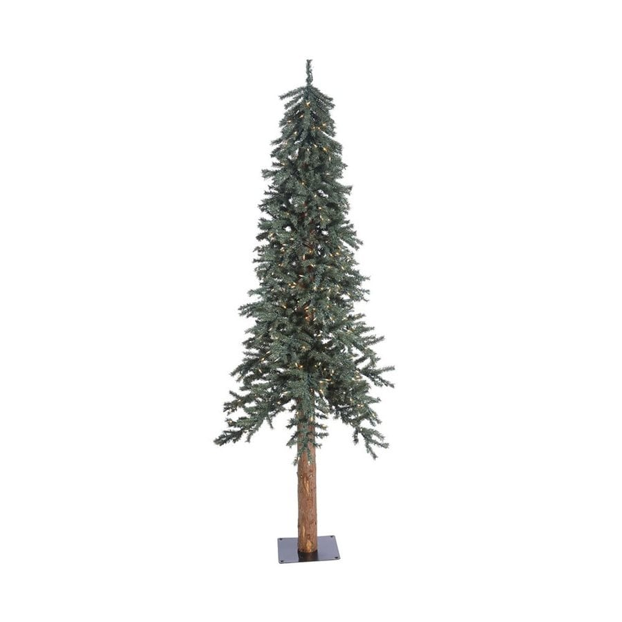 Vickerman 7 Ft Pre Lit Alpine Slim Artificial Christmas Tree With