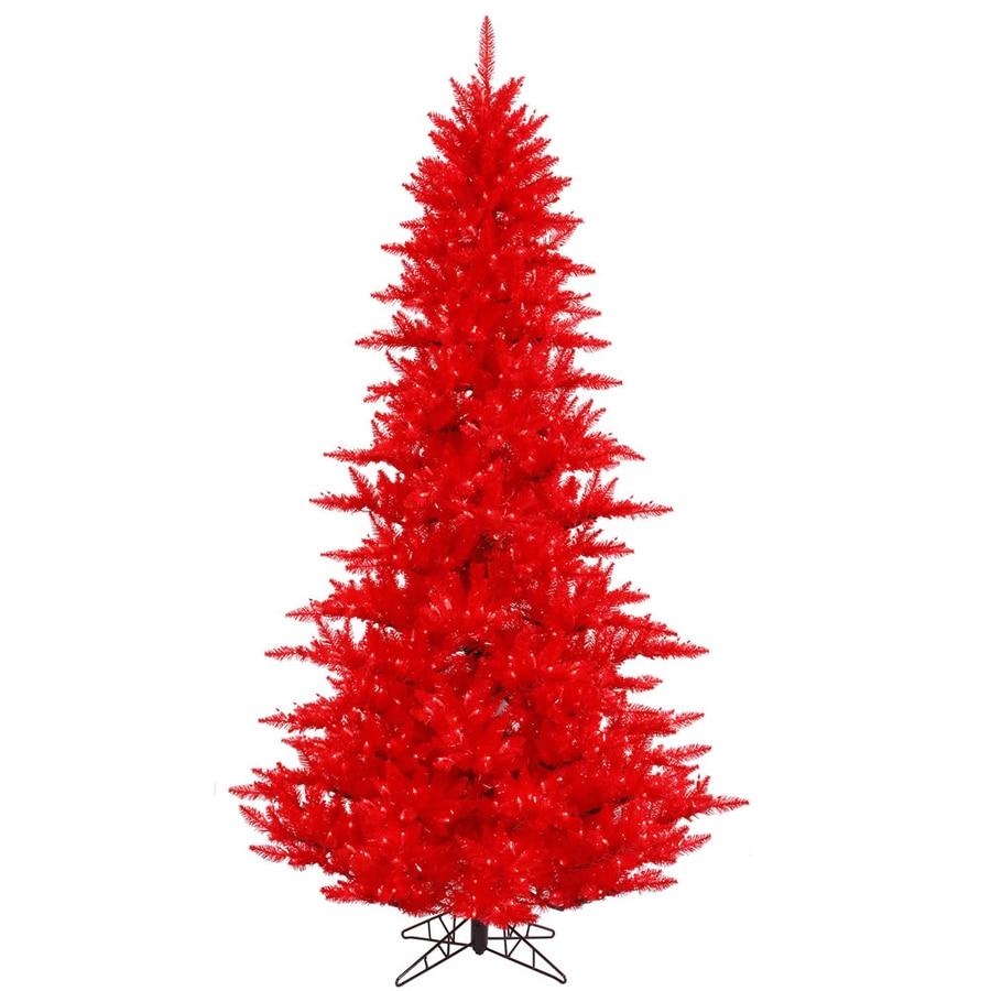 Vickerman 4 5 Ft Pre Lit Whimsical Slim Artificial Christmas Tree With 250 Constant Red