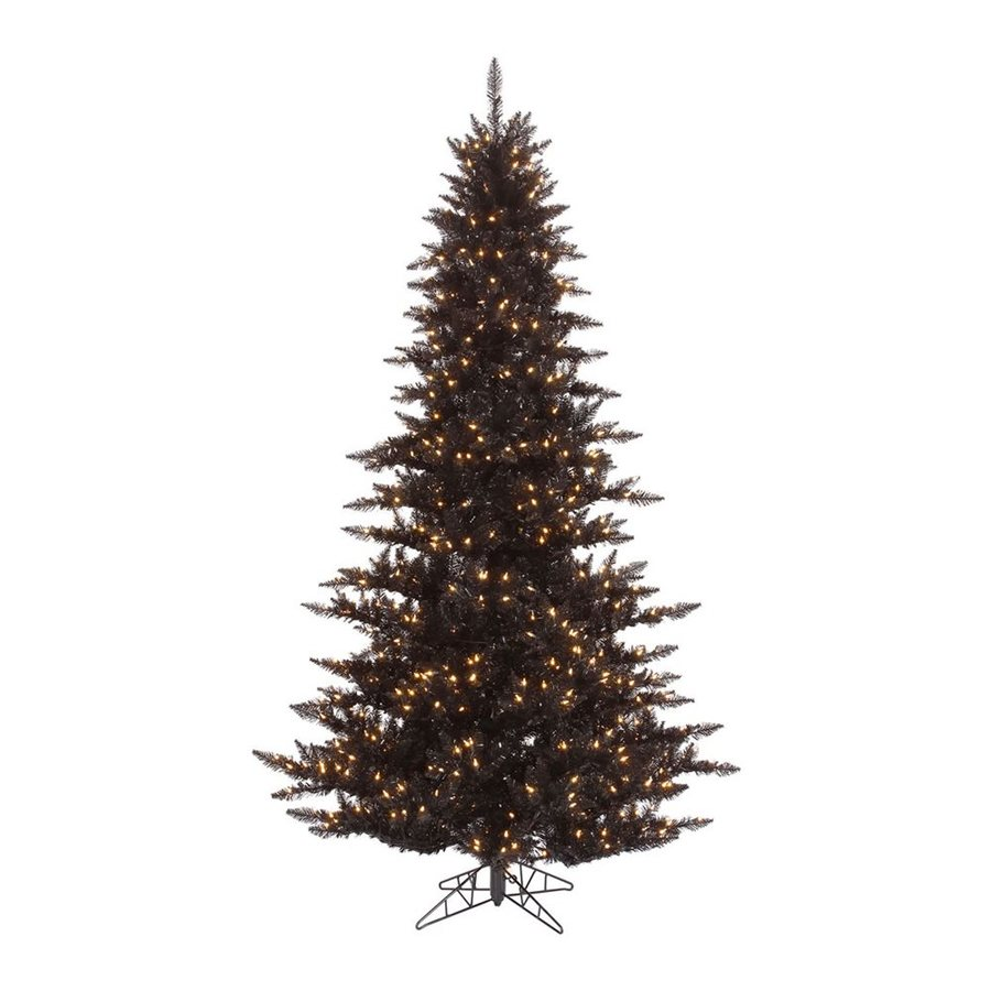 Vickerman 5.5-ft Slim Artificial Halloween Tree White Clear Incandescent Lights