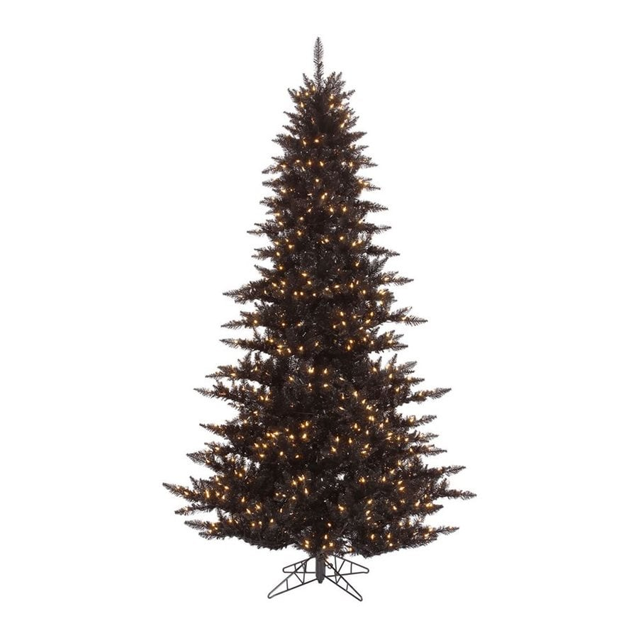 Vickerman 6.5-ft Slim Artificial Halloween Tree White Clear Incandescent Lights