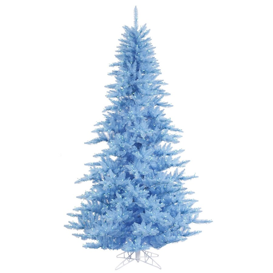 Vickerman 4.5-ft Pre-lit Whimsical Artificial Christmas Tree with 250 Blue Incandescent Lights