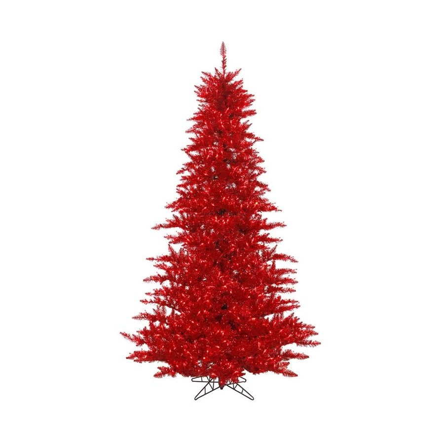 Vickerman 4.5-ft Pre-lit Tinsel Artificial Christmas Tree ...