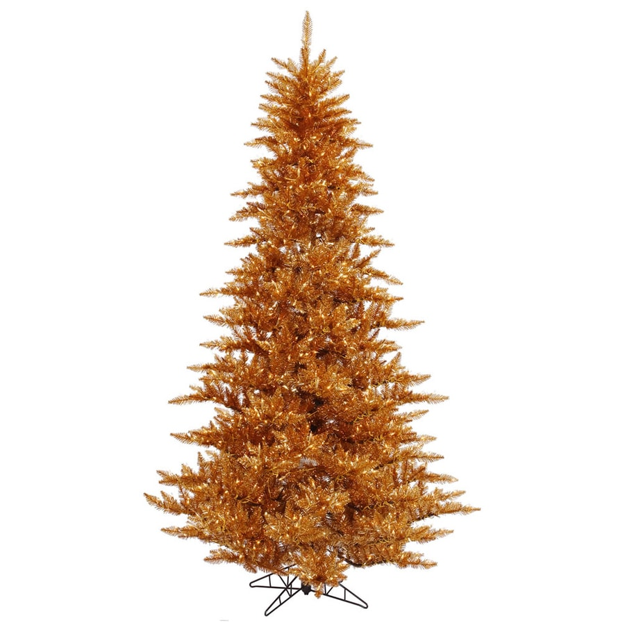 Vickerman 6.5-ft Pre-lit Whimsical Artificial Christmas Tree with 600 Clear White Incandescent Lights