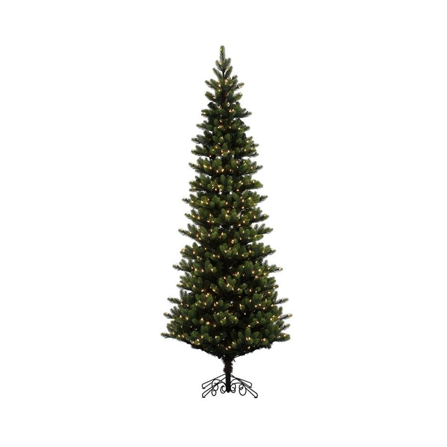 vickerman 9 ft pre lit slim artificial christmas tree with 900 constant warm white