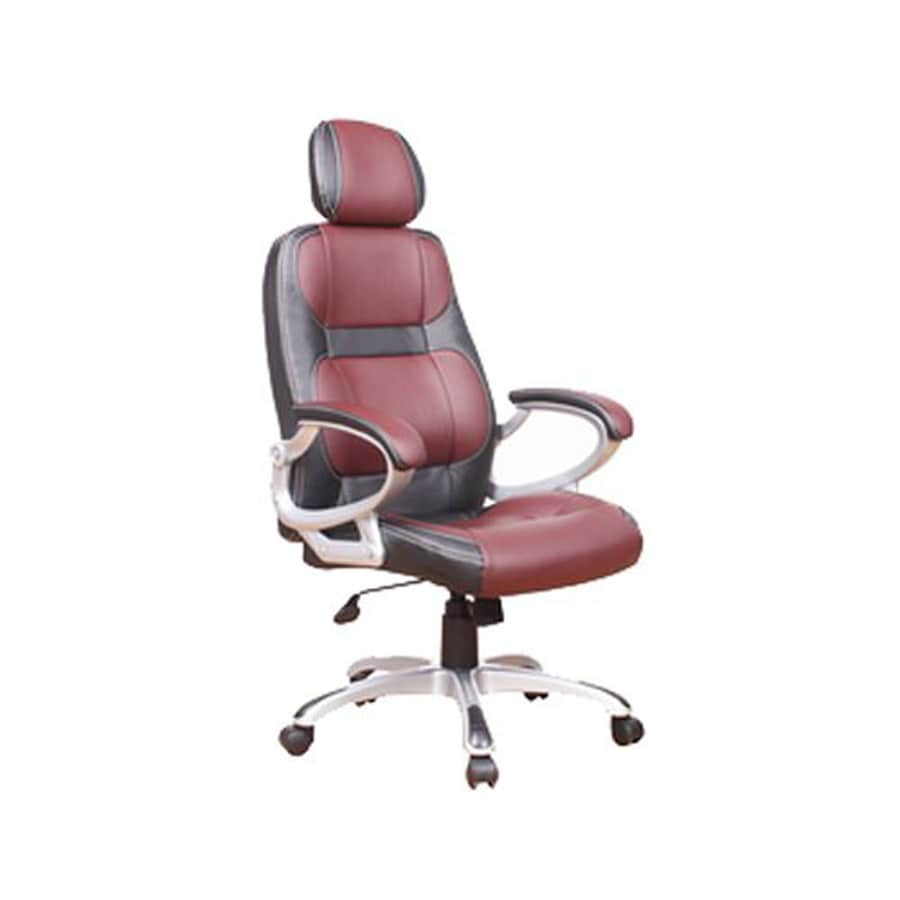 Groovy Chintaly Imports Black Burgundy Contemporary Desk Chair At Machost Co Dining Chair Design Ideas Machostcouk