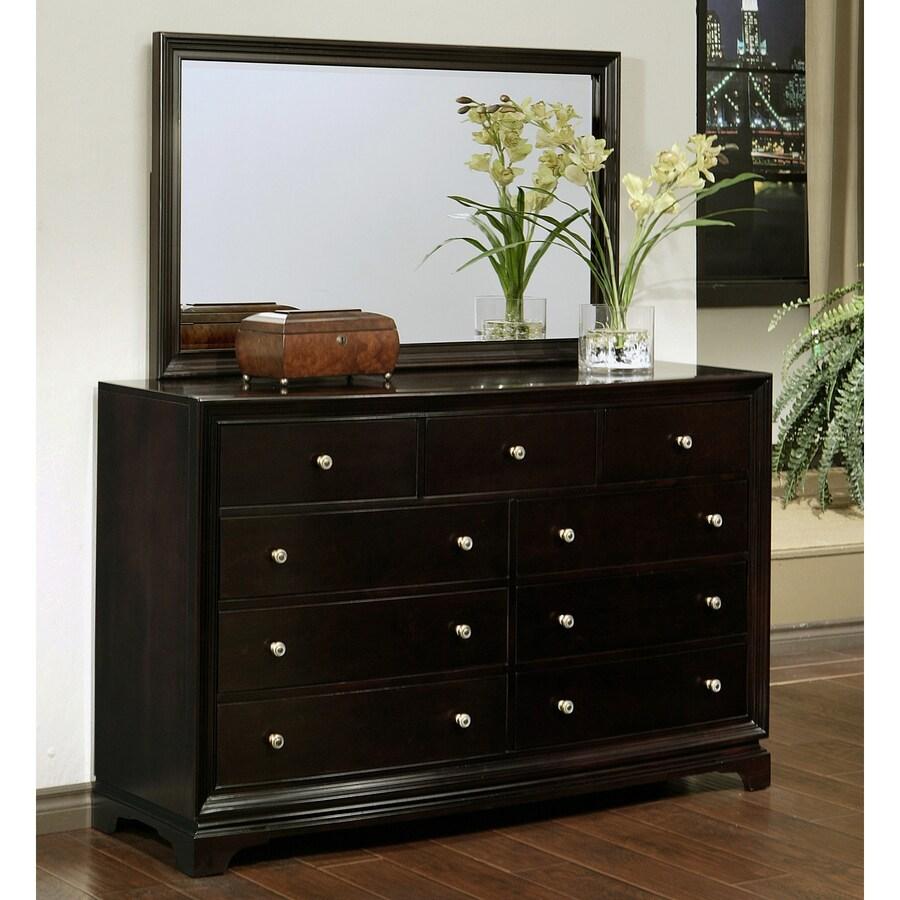 Pacific Loft Capriva Espresso Oak 9-Drawer Double Dresser
