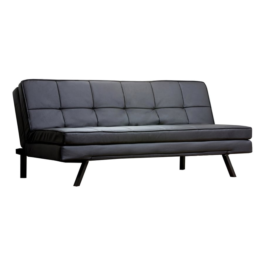 Pacific Loft Bradley Black Faux Leather Sofa Bed