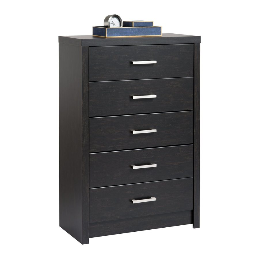 Prepac Furniture District Washed Ebony 5-Drawer  Chest