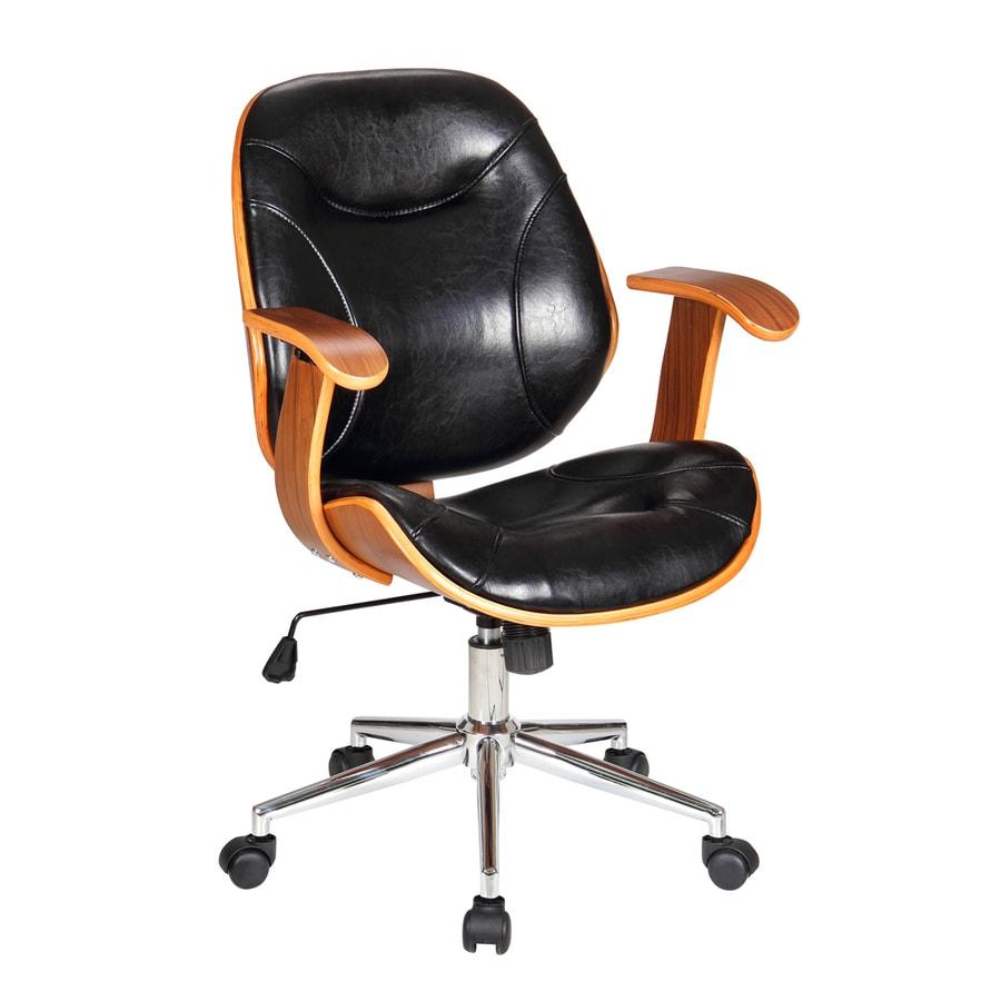 Boraam Industries Rigdom Black Contemporary Desk Chair
