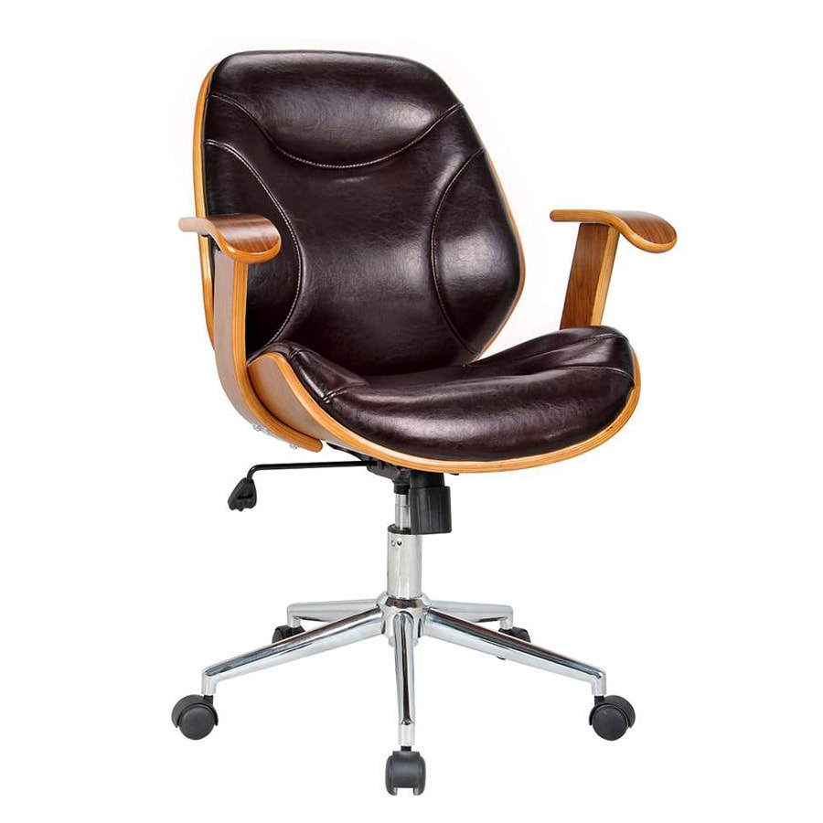 Boraam Industries Rigdom Brown Contemporary Desk Chair