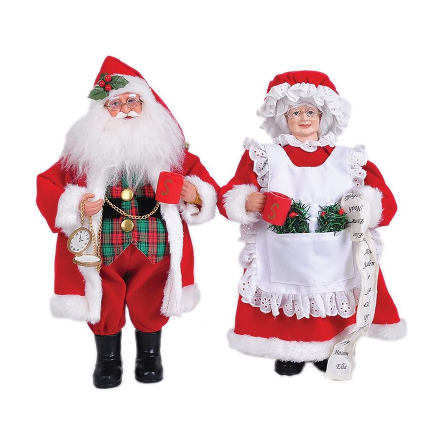 Well-liked Shop Santa's Workshop Mr. and Mrs. Claus Figurines at Lowes.com HG32