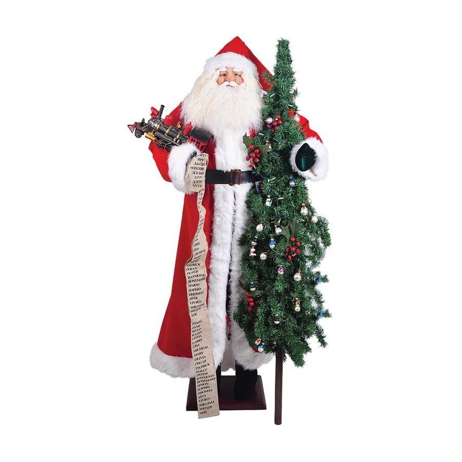 Santa's Workshop Pre-Lit Santa Figurine LED Lights