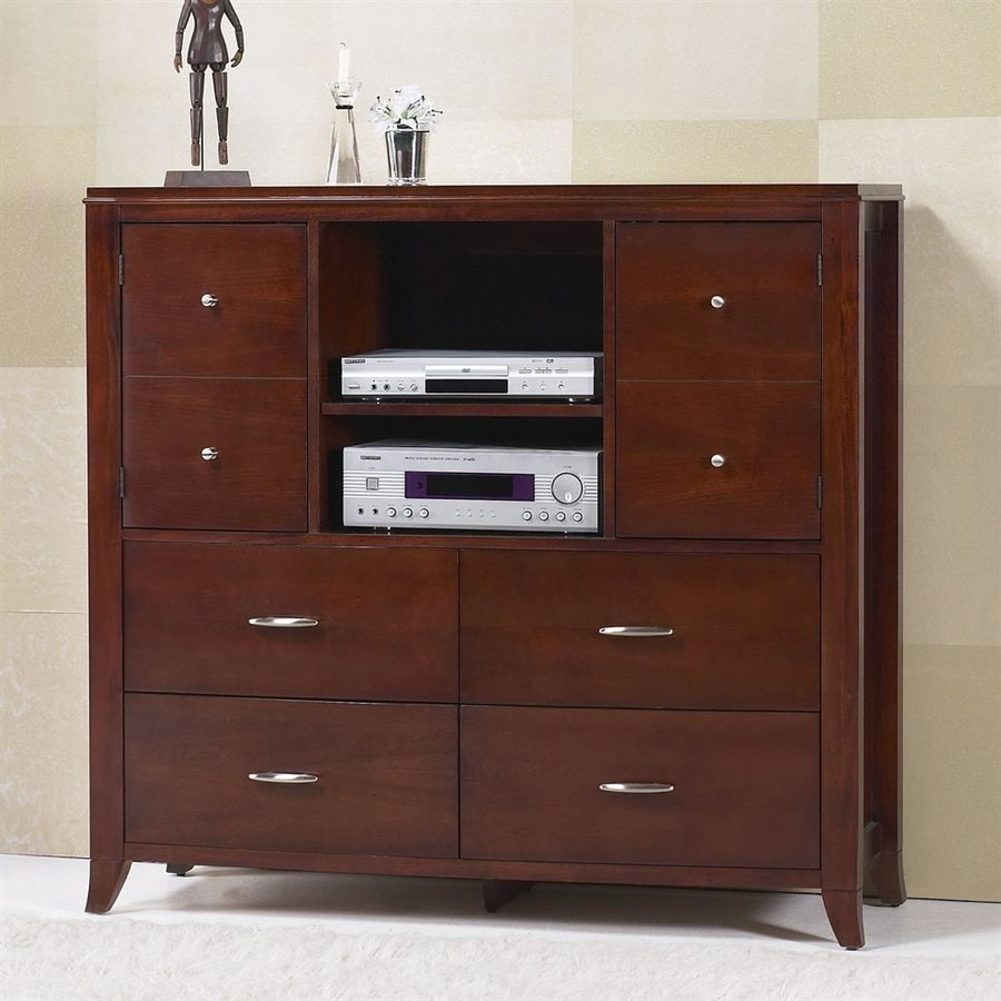Modus Furniture Brighton Cinnamon Mahogany 4-Drawer Media Dresser