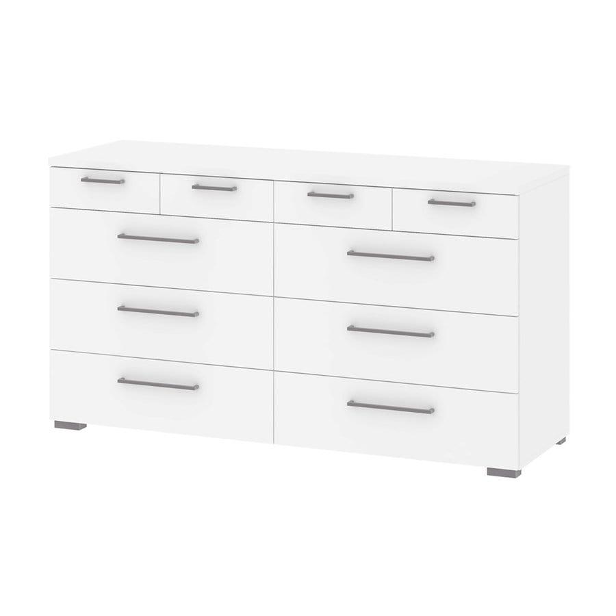 Tvilum Aria White 10-Drawer Double Dresser